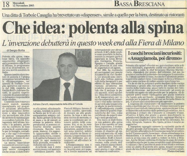 Un'idea nata nel 2003