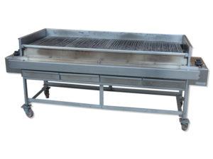 Combi 4 - tutto griglia in tondino e pietra lavica